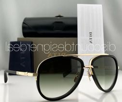 DITA MACH TWO Aviator Sunglasses 18K Gold Black Brown Gradie
