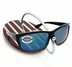 Costa del Mar Cut Polarized Rectangular Sunglasses, Coconut