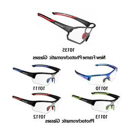 ROCKBROS Cycling Photochromic Full Frame Glasses Sport Sungl