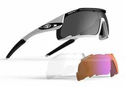 Tifosi Davos Sunglasses, White/Black
