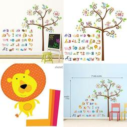 Decowall Da-1503 Animal Alphabet Abc And Owl Numbers Tree Ki