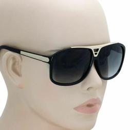 Designer Inspired High Fashion Square Flat Top Aviator Sungl