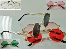 Detailed Classic Fashion Design Gold Frame Round Lens Lennon