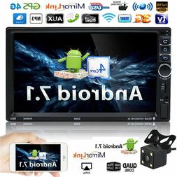 """Android 7.1 7"""" Quad Core HD 1080P 4G Double 2DIN GPS Car Rad"""