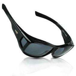 DUCO Unisex HD Wraparound Prescription Glasses Polarized Sun