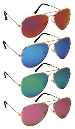 Edge I-Wear Classic Aviator Sunglasses w/Polarized Lens 2509
