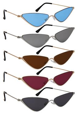 Edge I-Wear Fashion Metal Cateye Women Sunglasses Flat Tinte