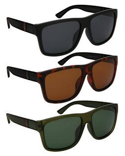 Edge I-Wear Men Retro 80s Square Sunglasses w/Polarized Driv
