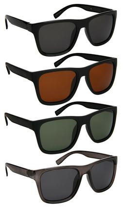 Edge I-Wear Men Vintage Rectangular Square Sunglasses w/Pola