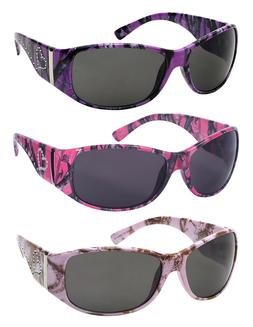Edge I-Wear Women's Oval Wrap Style Sunglasses with Camo Des