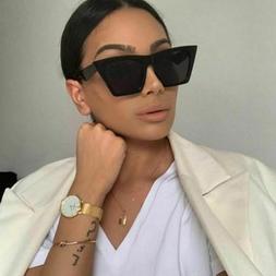 Elegant Square Sunglasses For Women Protective Uv400 Ladies