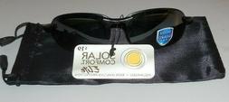 Solar Comfort Elite Polarized Black Semi Rimless Sunglasses
