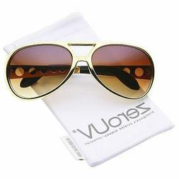 Elvis Sunglasses, Gold/Amber Retro Gradient Lens Plastic Fra