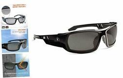 Ergodyne Skullerz Odin Safety Sunglasses - Smoke Lens, Black