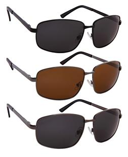 Extra Large Big & Tall Polarized Sunglasses Metal Wide Frame