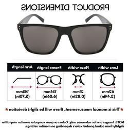 Extra Large Polarized Square Sunglasses XXL Size Wide Frame