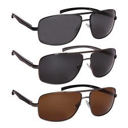 Extra Large Size Polarized Sunglasses Men Aluminum Square Su