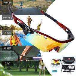 Fashion 5 Pair Lens Polarized Cycling Bicycle Sunglasses Fis