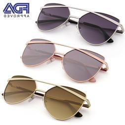 Fashion Aviator Sunglasses for Women Ladies Girls w/ Eyewear