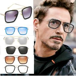 Fashion Iron Man Sunglasses Square Robert Downey TONY STARK