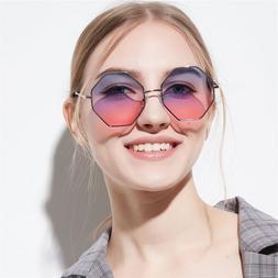 Fashion Lady Polygon <font><b>Sunglasses</b></font> Brand De