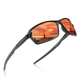 Fashion Men's Polarized Colored Wrap Sunglasses Sport Drivin