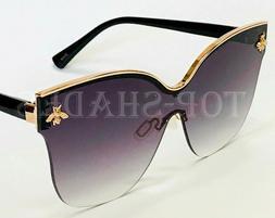 Women's Sunglasses Designer Fashion Moth bug cat Eye Metal O