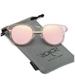 SojoS Fashion Polarized Sunglasses for Women UV400 Mirrored