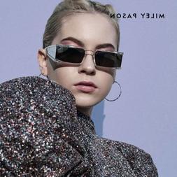 Fashion Rectangle luxury Small <font><b>Sunglasses</b></font