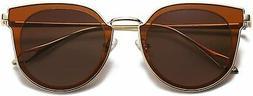 SOJOS Fashion Round Polarized Sunglasses for Women UV400 Mir