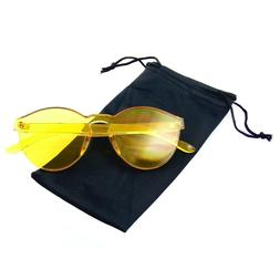 Fashion Womens Mens Clear Novelty Sunglasses UV400 Outdoor F