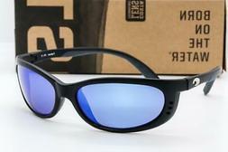fathom 400g polarized sunglasses black blue mirror