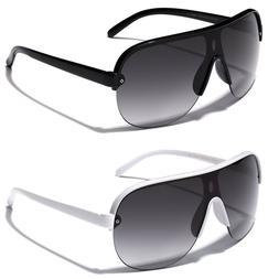 Flat Top Oversized Aviator Sunglasses Men's Women's Retro 80