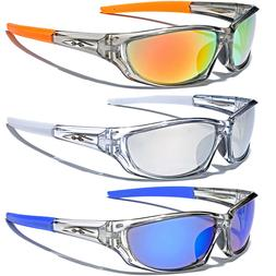 Frost Clear Sport Wrap Men Athletic Sunglasses Baseball Cycl