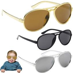 Funny Bro Swag Baby Toddler Boys TOP GUN GOLD AVIATOR SUNGLA