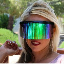 Futuristic Oversized XXL Shield Visor Sunglasses Flat Top Mi