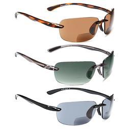 GAMMA RAY 3 Pairs of Polarized Sports Bifocal Sunglasses UV4