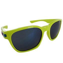 Oakley Garage Rock OO9175-14 Iridium Sport Sunglasses,Neon,5