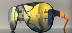 ✅ Gucci GG 2252/S 0RC2 UZ Black Orange/Multi-Colored Mirro