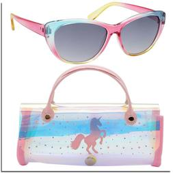 Girls Sunglasses 6 - 12 Kids Sunglass For Girls With Case UN