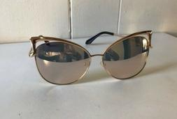 SOJOS Gold-Pink Cat-Eye Sunglasses