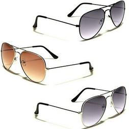 Air Force Gradient Lens Vintage 80s Retro Aviator Sunglasses