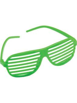 Green 80's Shutter Shade Toy Novelty Sunglasses Party Favors
