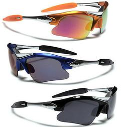 Half Frame Men Sports Wrap Around Cycling Sunglasses Basebal