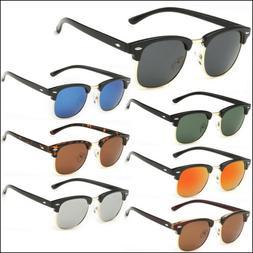 Half Frame Semi-Rimless Polarized Sunglasses Mens Womens Ret