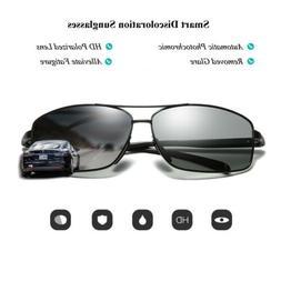 HD Men's Photochromic Sunglasses Polarized Chameleon Transit