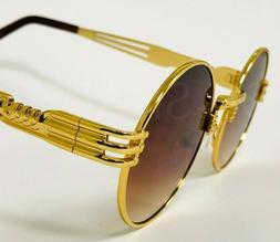 Hip-Hop Buffs Migos Metal Sunglasses Quavo Shades Gold Frame