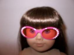 """Hot Pink Sunglasses with Bling made for 18"""" American Girl Do"""