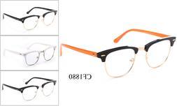 Interview Smart Clear Lens Glasses Fake Vintage Nerd Geek Re