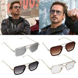Iron Man Sunglasses Square Robert Downey TONY STARK Pilot Gl